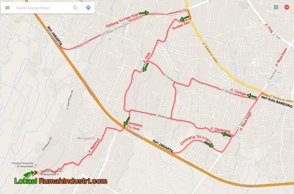 peta lokasi rumahindustri.com